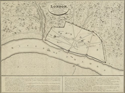 The city of London, in the time of the Saxons (about the year 1000) compiled from the most authentic documents